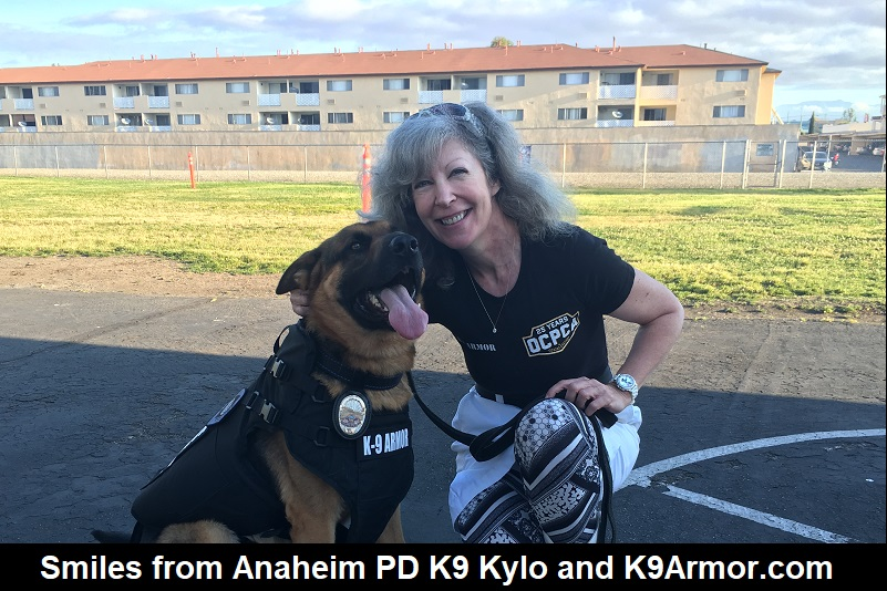 Smiles from Anaheim PD K9 Kylo and K9Armor.com