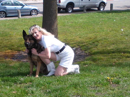 Hugs from K-9 Armor Cofounder, Treasurer Suzanne Saunders for helping us protect K9 Kilo and pals