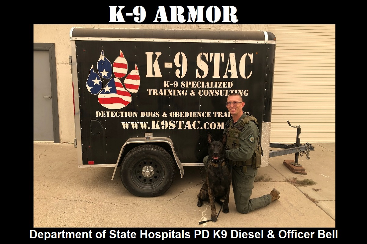Donate to protect Department of State Hospitals Police K9 Diesel and Officer John Bell
