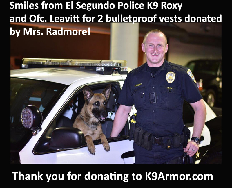 El Segundo Police K9 Roxy and Officer Leavitt