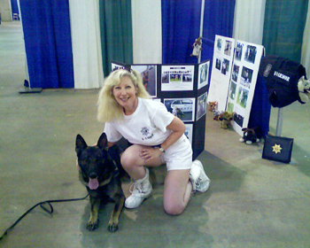 Click for large image El Dorado Sheriff K9 Troy and Suzanne of K-9 Armor