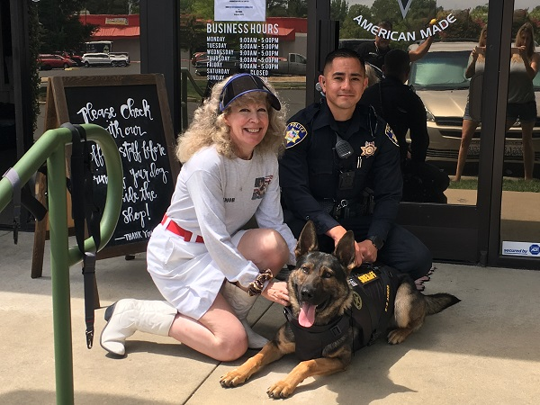 Smiles from Suzanne, K9Armor.com and Napa Sheriff - American Canyon PD Officer Tong and K9 Mavric