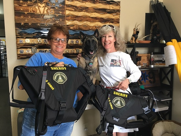 Smiles from K9 Tactical Susan Forbes and K9 Yeti and Suzanne, K9Armor.com