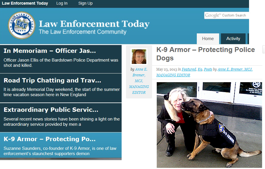 Click to read the article on Law Enforcement Today web site