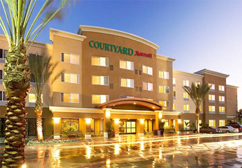Follow the link to make a reservation at the Courtyard Marriott in Anaheim