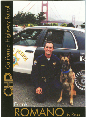 K9 Rexx and Officer Romano, CHP