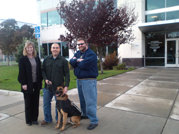 Karen Tallerico, Richmond PD Officer Mandell and K9 Rasp, Chris Tallerico
