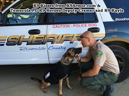 Riverside Sheriff - Temecula PD Deputy Cramer and K9 Kayla