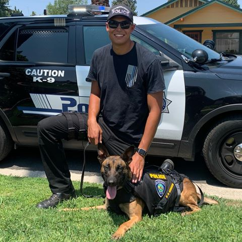 San Bernardino PD K9 Heroes Officer Guzman and K9 Falco