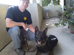 Click to MEET - St Helena PD Officer Steve Peterson and K9 Djino