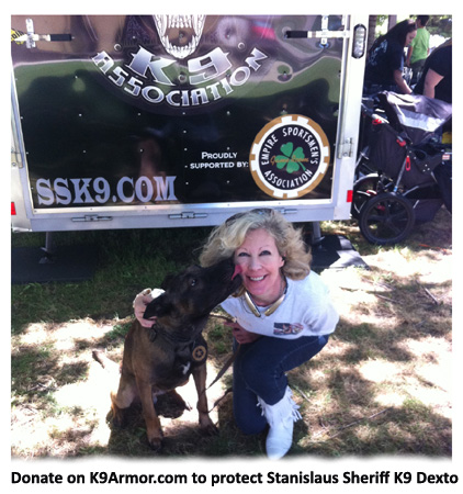 We need donations to protect Stanislaus County K9 Dexto and Lycan