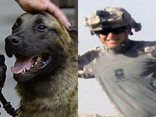 Stanislaus County Sheriff K9 Cody and Army Spc Cody Moore (photo by Moore family)