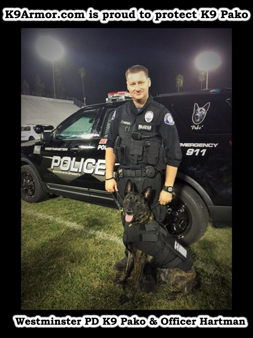 Westminster PD K9 Pako and Officer Hartman photo by Frank DAmato OC Register